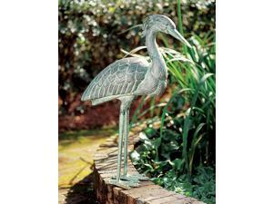 Blue Heron Garden Statue