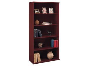 C-Series Mahogany Wide Bookcase w 5 Shelves - Series C