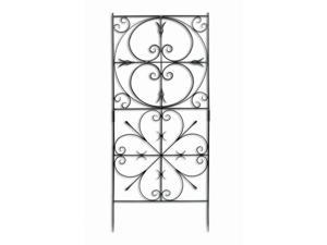 Graphite Finished Alder Garden Trellis w Decorative Curves