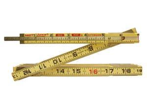 "Lufkin X46F 6' x 5/8"" Wood Rule Red End with 6"" Slide Rule Extension"