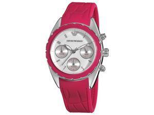 Armani Sport Womens Silver Chronograph Dial Watch