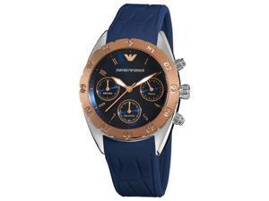 Armani Sport Womens Blue Chronograph Dial Watch