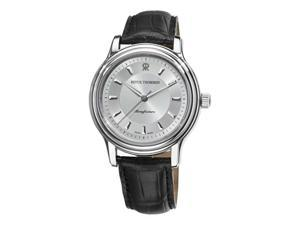 Revue Thommen Classic Mens Black Leather Strap Automatic Watch 12200.2538