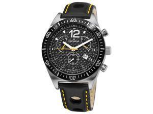 Grovana Mens Sport Analog Black Quartz Watch