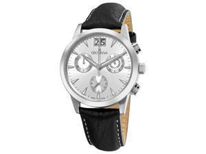 Grovana Mens Silver Chronograph Dial Quartz Watch