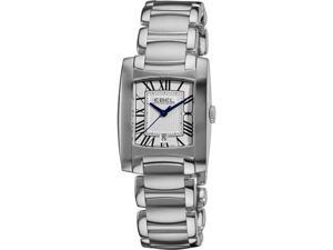 Ebel Womens Brasilia Silver Dial Stainless Steel Quartz Watch