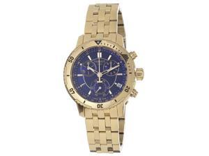 Tissot Mens PRS-200 Blue Chronograph Dial Yellow Gold Watch