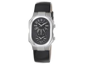 Women's Black Dial and Black patent Leather Strap Watch