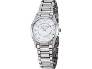 Emporio Armani Womens Slim Mother of Pearl Dial Quartz Watch
