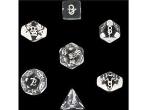 Polyhedral 7-Die Translucent Dice Set - Clear