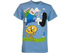 Adventure Time Finn Kick Jump Men's T-Shirt
