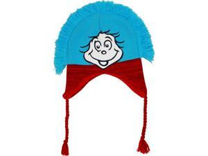 Dr. Seuss The Cat in the Hat Thing One and Thing Two Knit Laplander Peruvian Hat