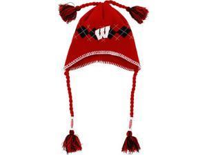Wisconsin Badgers Tassle Gyle Knit Hat