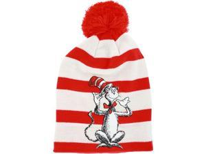 Dr. Seuss The Cat in the Hat Knit Hat with Pom