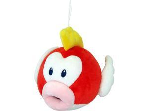 Sanei Super Mario Series Plush Doll, Cheep Cheep PukuPuku - 6 Inch