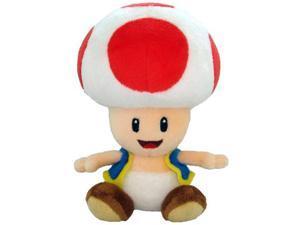 "Super Mario Plush Toad Soft Stuffed Plush Toy by Sanei - 6"""