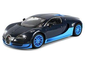 Licensed Bugatti Veyron 16.4 Super Sport Remote Control RC Car Big 1:12 Scale Size Ready to Run w/ Bright LED Lights, Working Suspension, Official Trademarks (Colors May Vary)