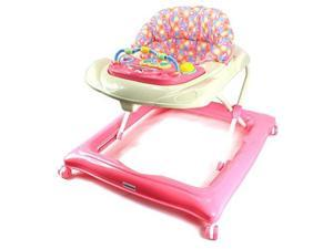 Bebemio Musical Play Mates Baby Walker w/ Adjustable Height, Lights, Sounds (Pink)