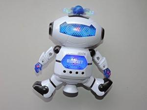 Digital Dancing Warrior Robot Toy Figure w/ Colorful Rotating Lights, Music, Dancing Action, 360 Degree Spins
