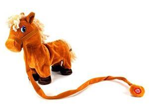 My Dancing Pony 'Cute Pony' Walk Along Toy Stuffed Plush Horse, Realistic Dancing & Walking Actions with Music (Colors May Vary)