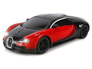 Veyron Diecast Bugatti Super Sport Electric Remote Control Car - Metal Body, 1:24 Scale Size, Ready To Run - w/ Working Headlights (Colors May Vary)