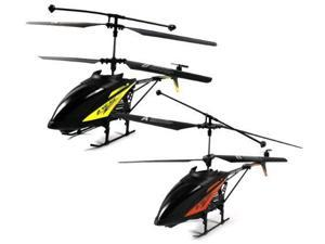 (COMBO) HK-Rotor VII Electric RC Helicopter 2-Pack Combo Deal, Gyroscope 2.4GHz 3.5CH LED Ready To Fly RTF (Yellow, Orange)
