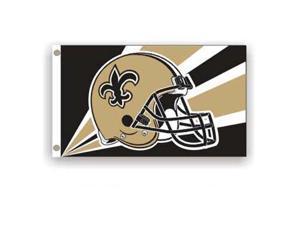New Orleans Saints NFL Helmet Design 3'x5' Banner Flag