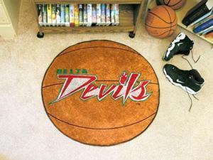 """27"""" diameter Mississippi Valley State University Basketball Mat"""