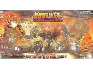 Godzilla Pack of Destruction Boxed Set - Set of 10 Miniature Figures