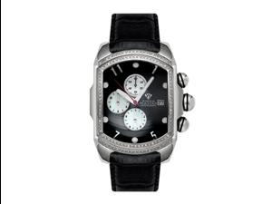 Aqua Master Men's Large Rectangular Bubble Loop Two Row Diamond Watch, 1.50 ctw