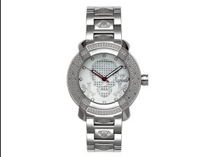 Aqua Master Men's 96 Model Diamond Watch with Skull Dial