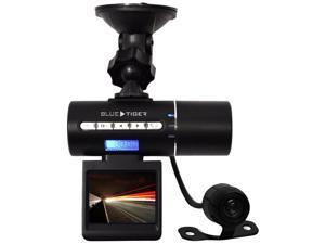 Blue Tiger 23-120387 Box Dual Cam DVR Dashboard Traffic Camera with Second Camera (Black)