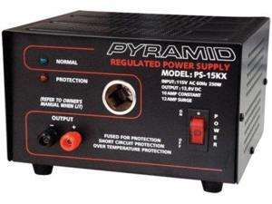 Pyramid PS15KX 10A 13.8-Volt Power Supply with Cigarette Lighter Adapter