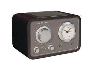 CROSLEY RADIO CR3005A-BK DUET ALARM CLOCK RADIO