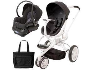 Quinny CV078BIK Moodd Stroller Travel system with diaper bag and car seat - Black Irony