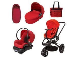Quinny CV078BHR Moodd Stroller Complete Collection in Red Envy
