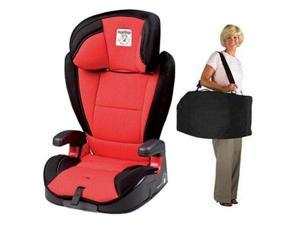 Peg Perego VIAGGIO HBB 120 Car Seat - Crystal Red with Carrying Case
