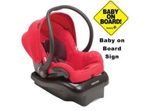 Maxi-Cosi IC166INT Mico Nxt Infant Car Seat w Baby on Board Sign  - Intense Red