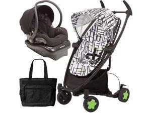 Quinny CV262KBWTRV  Zapp Xtra Travel system with diaper bag and car seat - Kenson Black