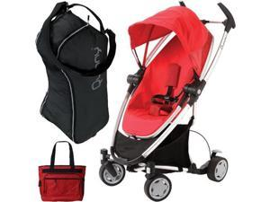 Quinny CV262RLR Zapp Xtra with diaper bag and Travel Bag- Rebel Red