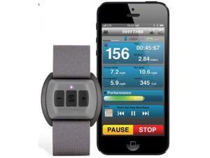 Scosche RHYTHM Bluetooth Armband Heart Rate Monitor for Women Gray