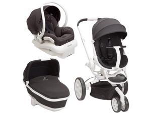 Quinny Moodd Stroller Travel System  Black Irony with Bassinet