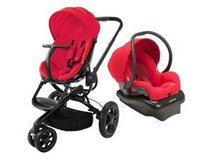 Quinny Moodd Stroller Travel system with car seat - Red Envy