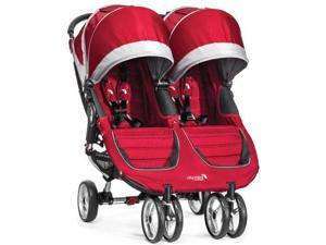 Baby Jogger BJ12436 - City Mini Double Stroller - Crimson Gray