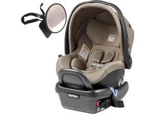 Peg Perego - Primo Viaggio 4-35 Car Seat w  Back Seat Mirror - Cream
