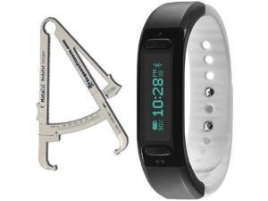 Soleus - GO Fitness Band Activity Tracker with BodyFat Caliper - Black White