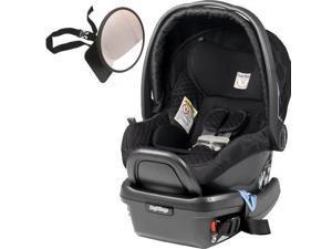 Peg Perego  - Primo Viaggio 4-35 Car Seat w  Back Seat Mirror  - Pois Black