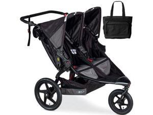 BOB - Revolution FLEX Duallie Double Stroller with Bag - Black Black
