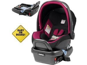 Peg Perego - Primo Viaggio 4-35 Car Seat w   w  Extra Base and Baby on Board Sign - Fleur