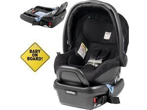 Peg Perego  - Primo Viaggio 4-35 Car Seat w  Extra Base and Baby on Board Sign - Pois Black